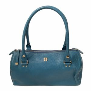 Kate Spade Blue Leather Barrel Bag